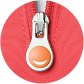 Details with a Smile: Code Happy smile zipper antibacterial antimicrobial fabric scrub detail