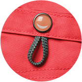 Details with a Smile: Code Happy smile loop antibacterial antimicrobial fabric scrub detail