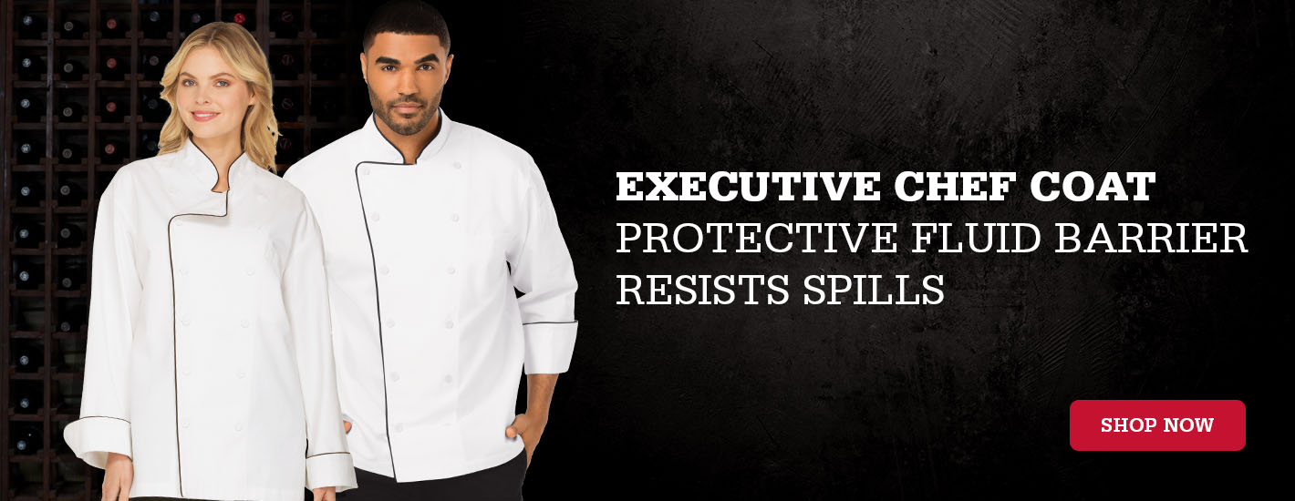 Executive Chef Coat with piping