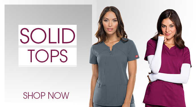Solid Scrub Tops